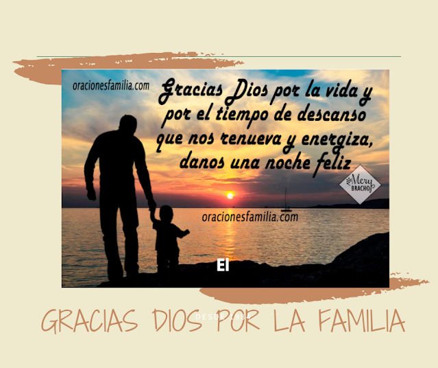 oraciones de gracias a Dios de la familia