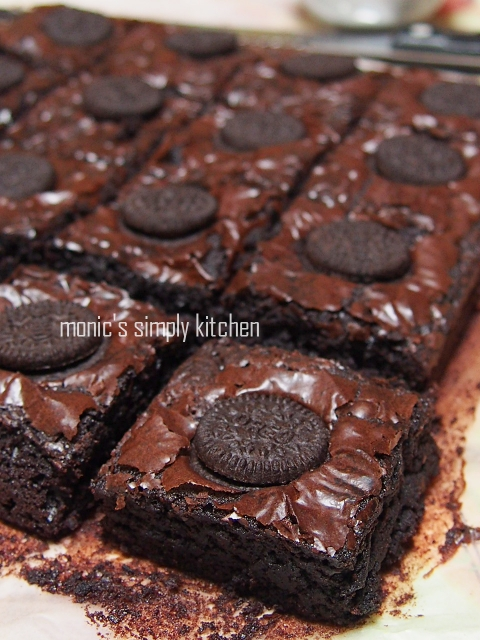 resep chewy brownies