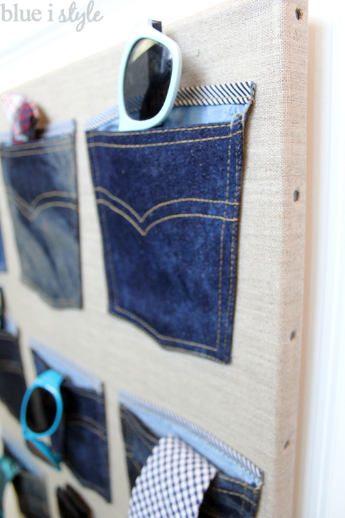 Denim Pocket organization for boys closet