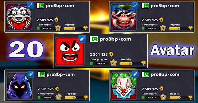 Get Avatar for Free 8 ball pool