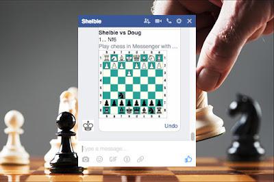 يمكنك ان تلعب الشطرنج مع اصدقائك في شات الفيس بوك أو ماسنجر