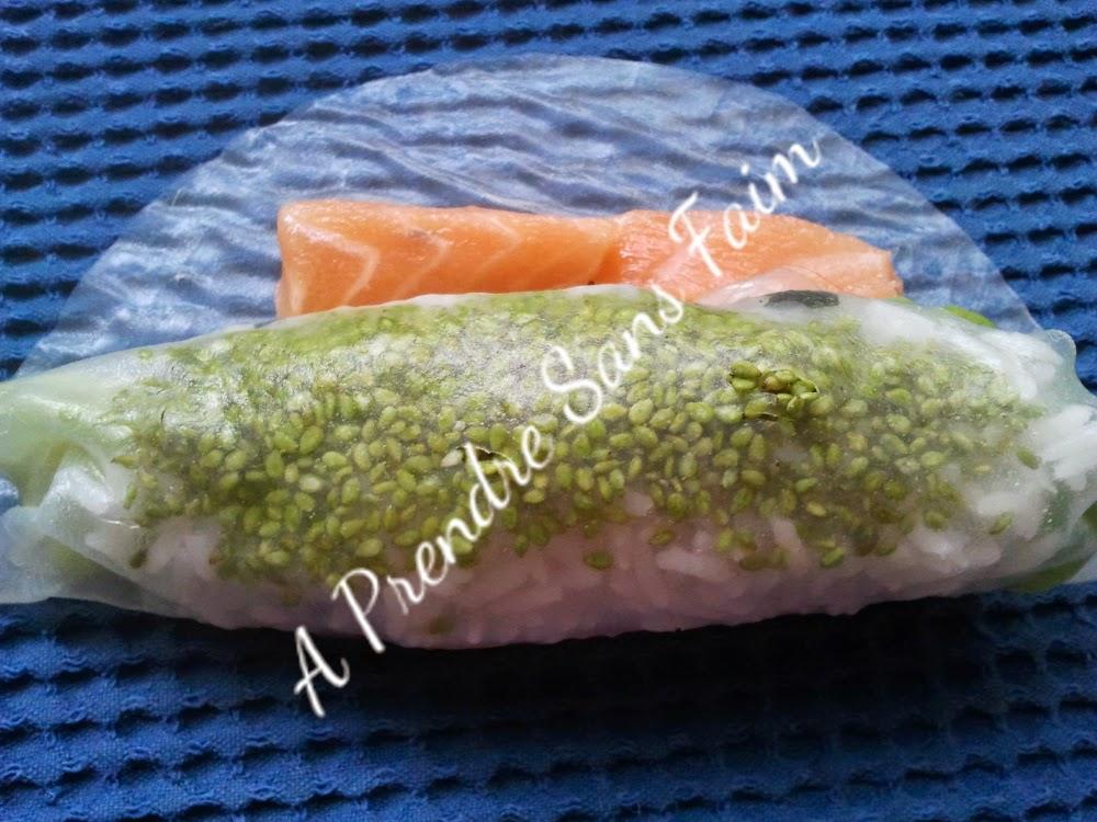 Sushis vietnamiens au saumon (pas à pas en photos)