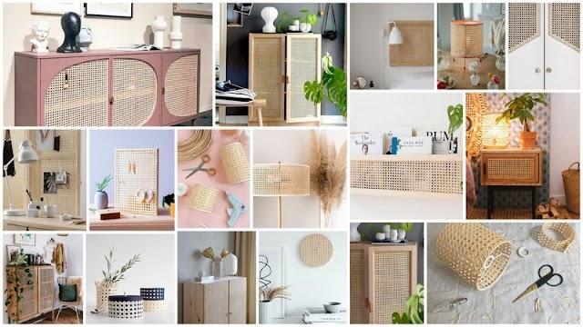 DIY Κατασκευές & Προτάσεις Διακόσμησης με Βιεννέζικη ψάθα
