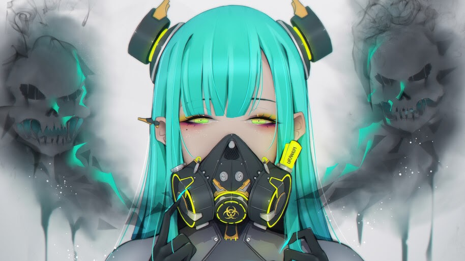 Anime, Girl, Toxic, Gas Mask, Sci-Fi, 4K, #6.2620