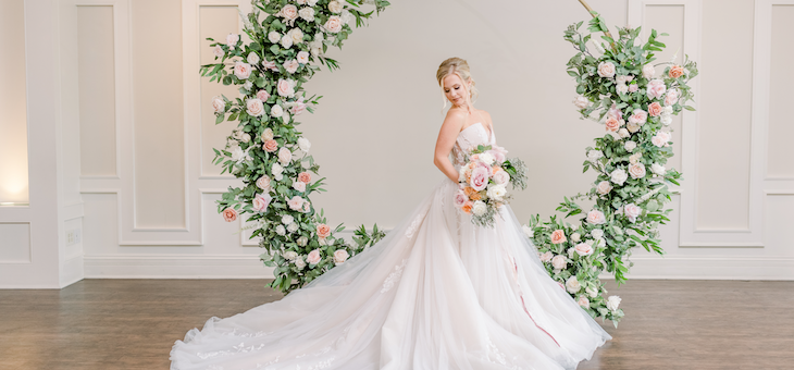 A Peachy and Pink Fête Full of Elegant Details Galore!