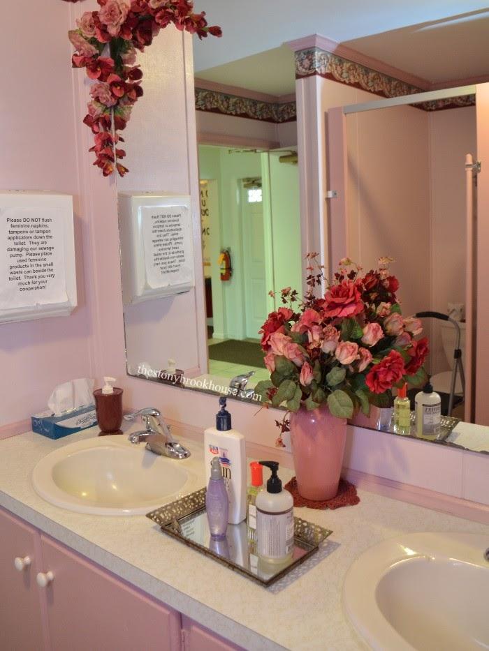 Super Pink 80s Church Bathroom