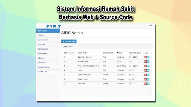 Download Source Code Sistem Informasi Rumah Sakit Berbasis Web Gratis