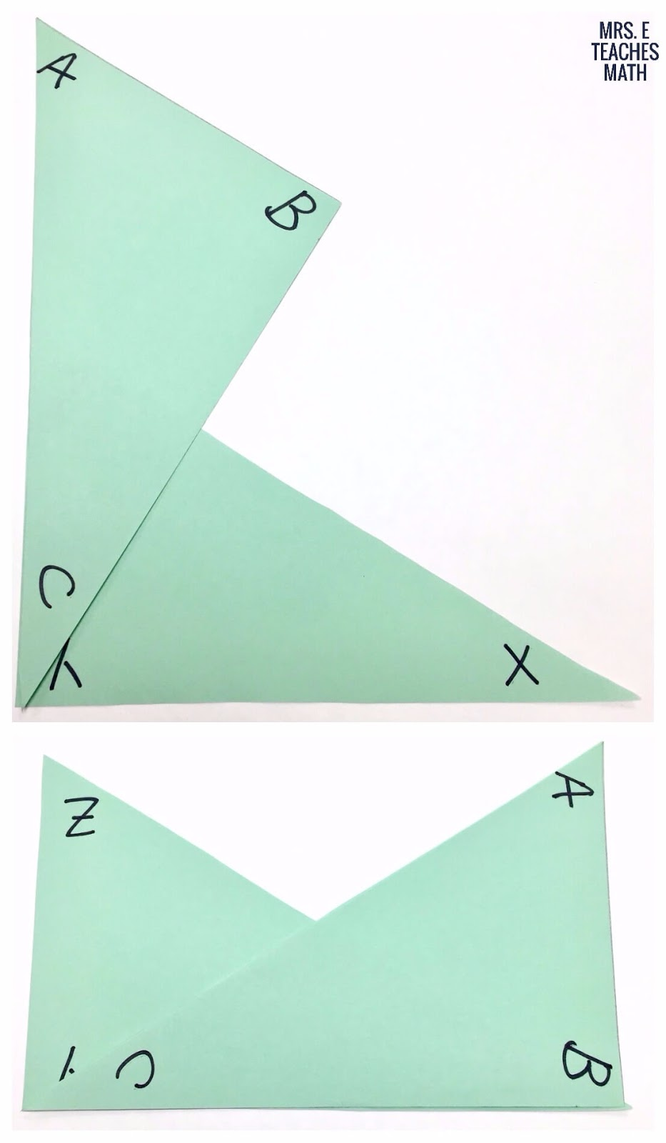 Help students visualize overlapping triangles mrs e teaches math investigating overlapping triangles this is a great hands on activity to do before congruent robcynllc Gallery