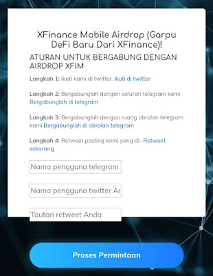 Cara mengikuti Airdrop XFIM di XFinance Mobile (gratis $4,914)