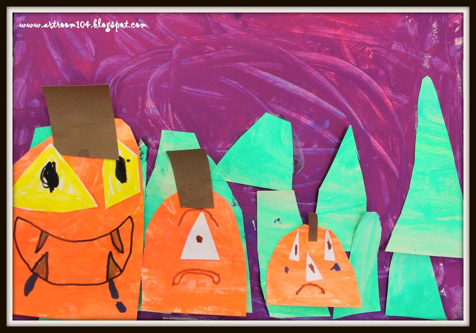 Art Room 104 1st Grade Crazy Pumpkins Part 2