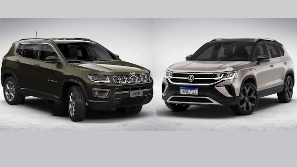 Jeep Compass x VW Taos x Corolla Cross - comparativo
