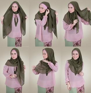gaya hijab cantik ke kantor