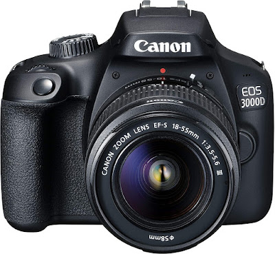 3. Canon EOS 3000D 18MP DSLR Camera