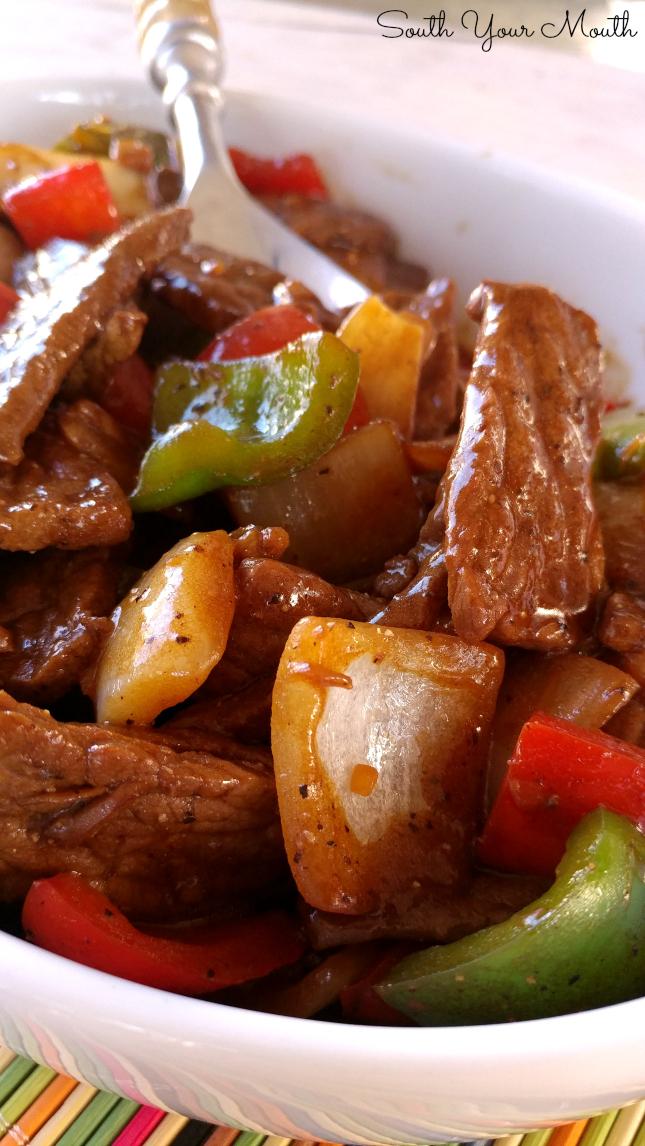 How to make beef pepper steak