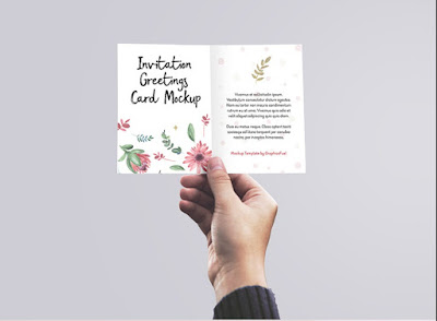 Invitation / Greeting Card in Hand PSD