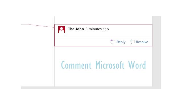 cara menghilangkan comment di word