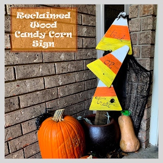Reclaimed Wood Candy Corn Sign