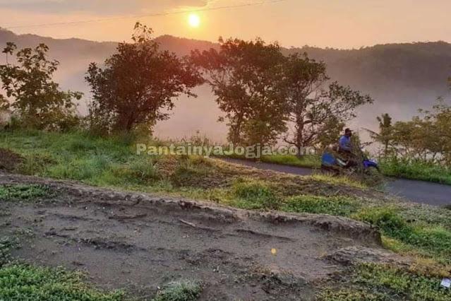 sunset gunung panggung ponjong