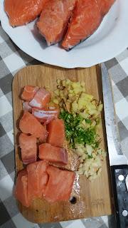 Émiettée de saumon au miso ;Émiettée de saumon au miso