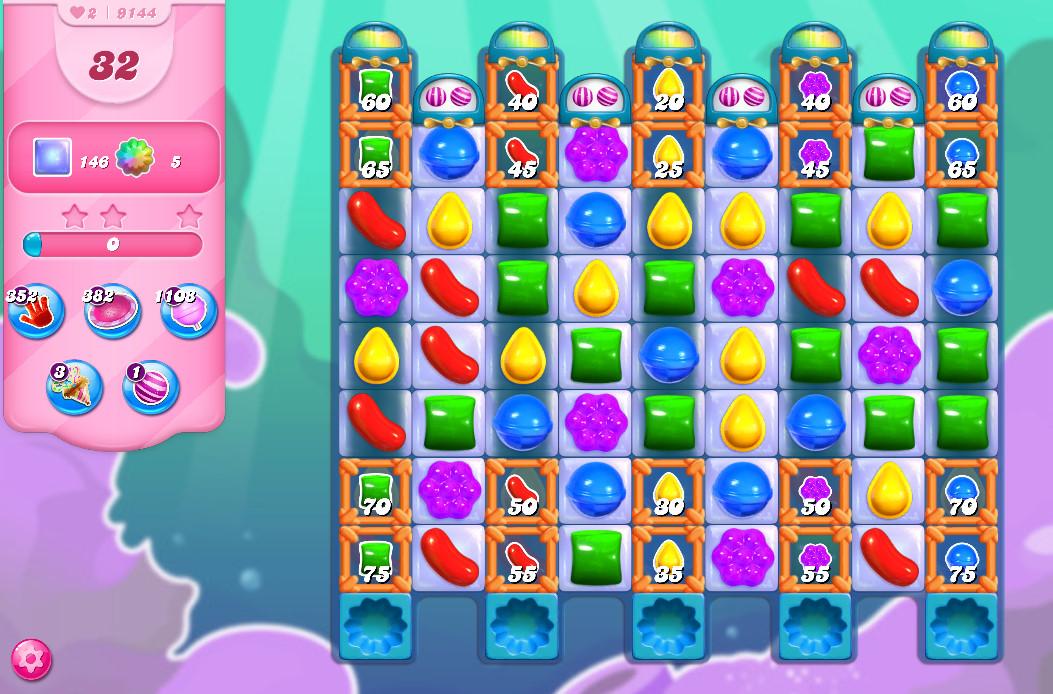 Candy Crush Saga level 9144