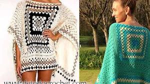 Poncho para tejer a crochet / Paso a paso