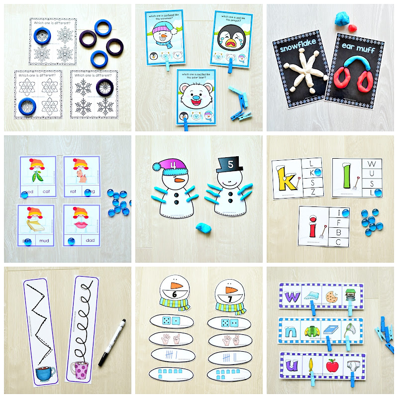 Winter Preschool and Kindergarten Learning Pack