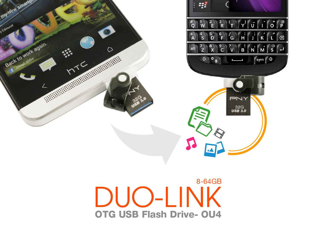 PNY 2-in-1 Duo-Link OU4 OTG USB 3.0 now available via Lazada