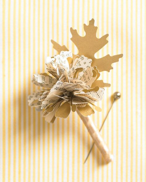 book page Fall Boutonniere
