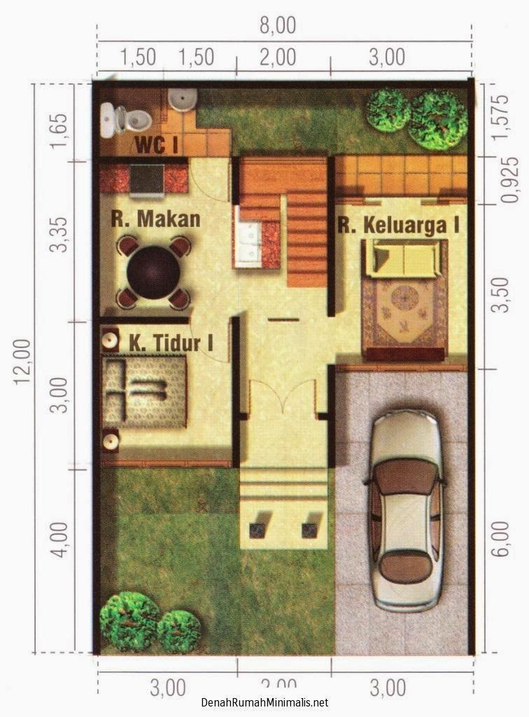 gambar denah rumah tingkat dua 1