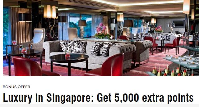 入住Marriott萬豪旗下新加坡喜來登酒店(Sheraton Towers Singapore)可獲贈5,000獎勵積分(12/2前有效)