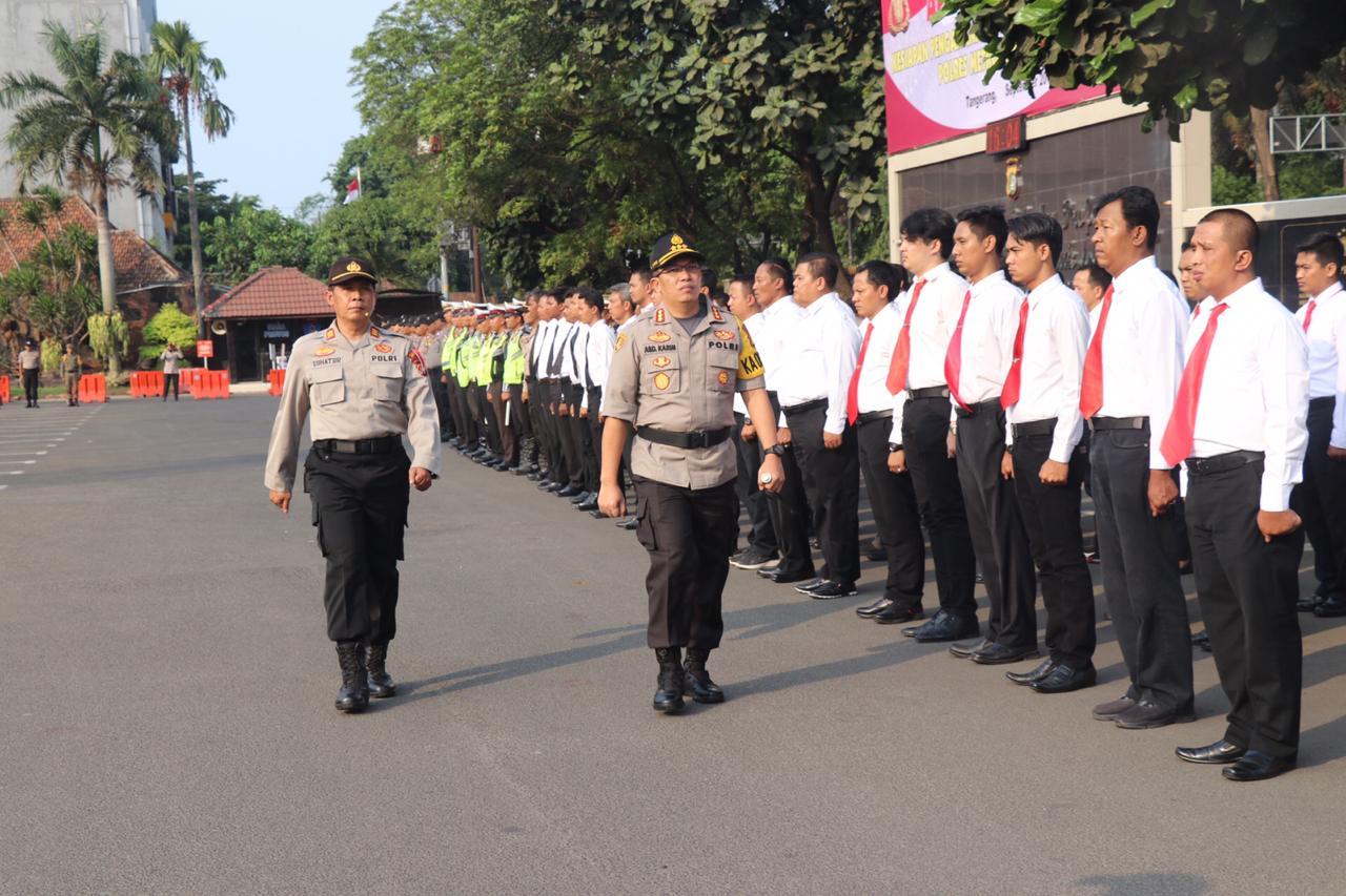 Jelang Pilkades Serentak 2019, Polres Metro Tangerang Kota Gelar Apel Pasukan