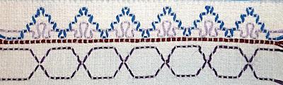 Swedish weaving sample Step 5