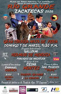 corridas de toros carnaval río grande 2020
