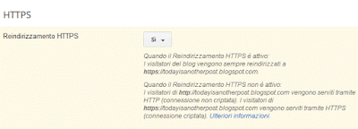 Come mettere l'https su blogger