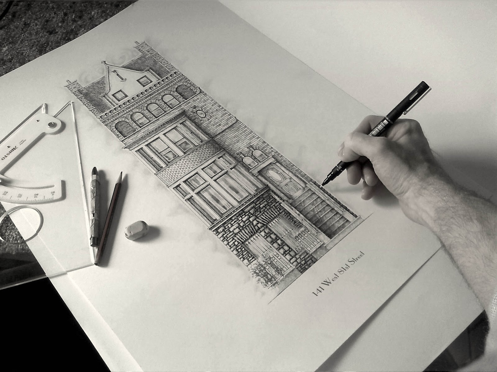 07-Dutch-Style-Townhouse-New-York-City-Jamie-Cameron-Intricate-Architectural-Drawings-and-Illustrations-www-designstack-co
