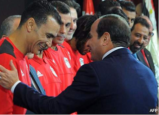 Egyptian president awards $85,000 bonus to each player in the national team for qualifying for Russia 2018