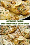 #One #Skillet #Chicken #with #lemon #Garlic #Cream #Sauce #crockpotrecipes #chickenbreastrecipes #easychickenrecipes #souprecipes