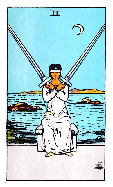 2-of-swords-rider-waite-Mother-Tarot