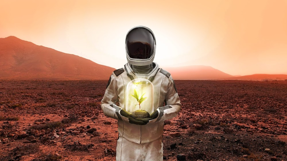 SpaceX Starman brings life to Mars by RealLifeStarman