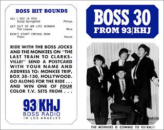 KHJ Boss 30 No. 61 - The Monkees