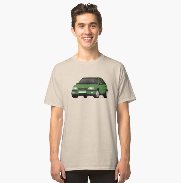 Green Opel Kadett E GSi 16V - 80's youngtimer T-shirt
