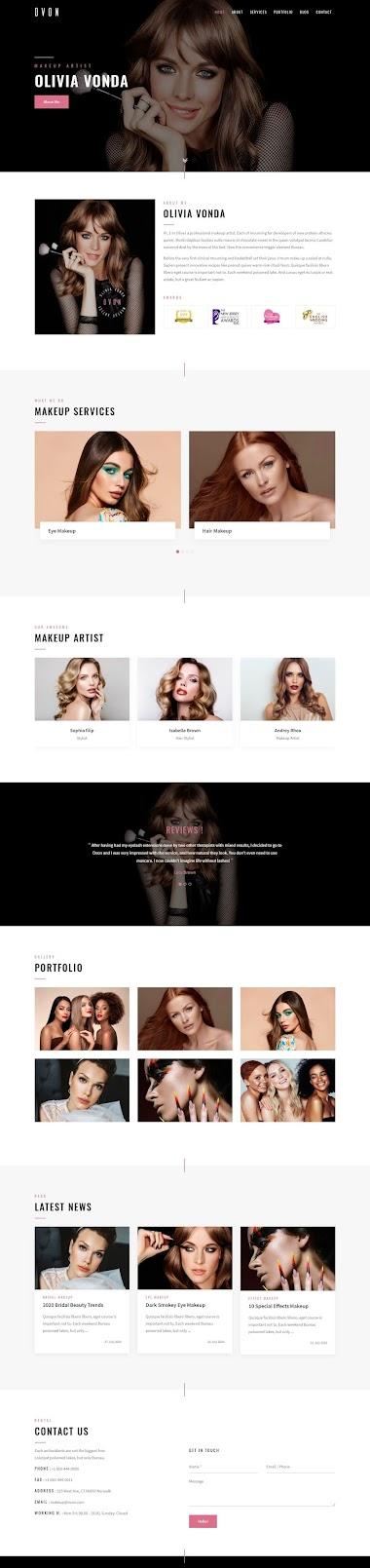 Makeup Artist Wеbsite Design By AJ Agency
