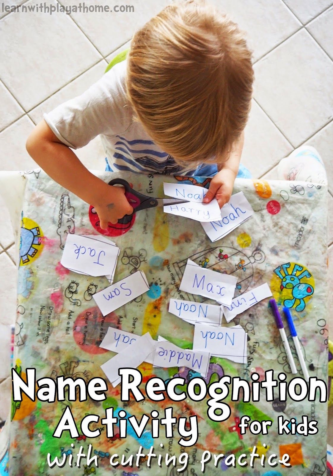 Learn With Play At Home Name Recognition Activity With