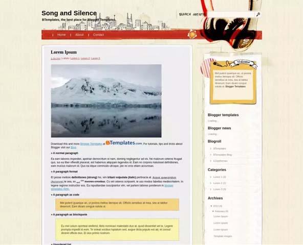 Best Free Blogger Templates For Lyrics Websites