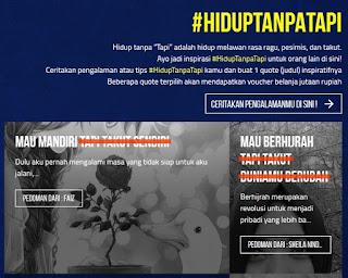 Tulis #HidupTanpaTapi Versimu dan Menangkan Voucher Belanja Jutaan Rupiah