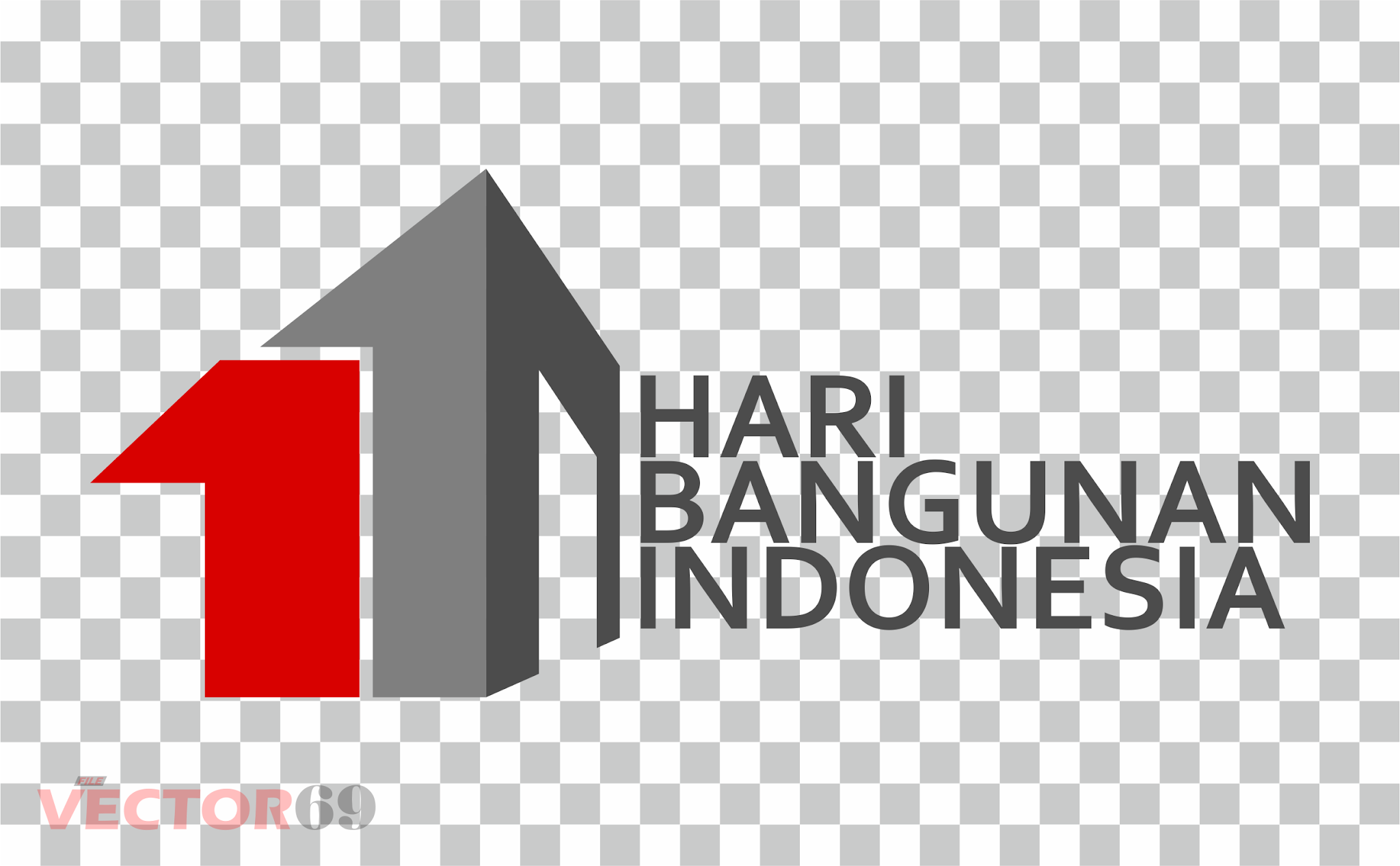 Hari Bangunan Indonesia Logo - Download Vector File PNG (Portable Network Graphics)