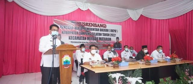 Plh Bupati Lampung Selatan Buka Musrenbang Merbau Mataram