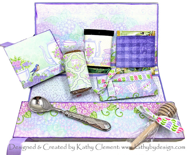 Tea Party in a Box Card by Kathy Clement