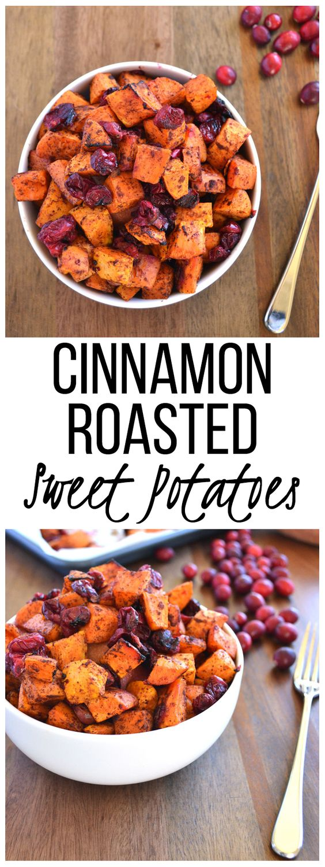 Cinnamon Roasted Sweet Potatoes & Cranberries | CUCINA DE YUNG