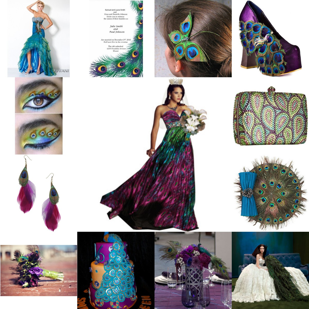 Unique Peacock Wedding Ideas: Www.WEDDINGCANDYNOW: When Peacock Is The Wedding Theme